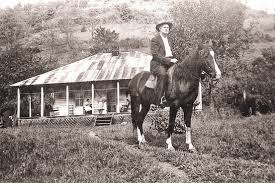 William Stepp on horseback