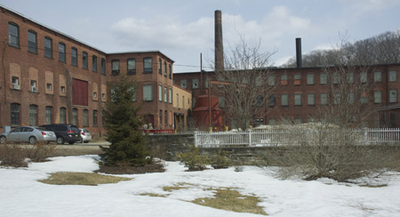 Mill building at Crane Paper Co.