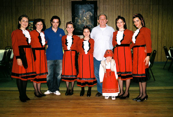 Boston based Bashkim Braho and Waterbury, Connecticut Albanian Dancers. Photo by Lynne Williamson.