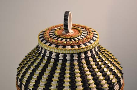 Decorative covered vase basket, 2007 by Jeremy Frey. Photo by Jeremy Frey
