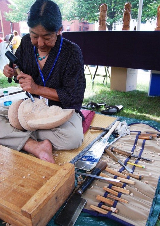 Thomas Matsuda at Lowell Folk Festival 2014. Photo: Greg Cook