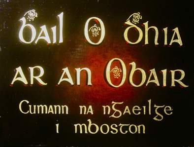 Cumann na nGaeilge sign by Vincent Crotty