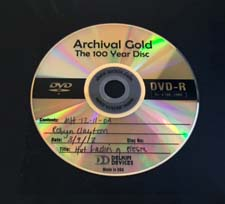 archival DVD disc