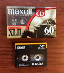Cassette and DAT magnetic tape