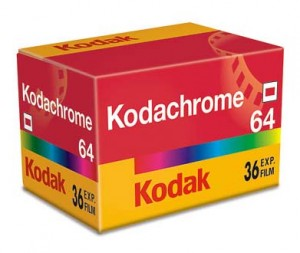 Box of Kodachrome slide film