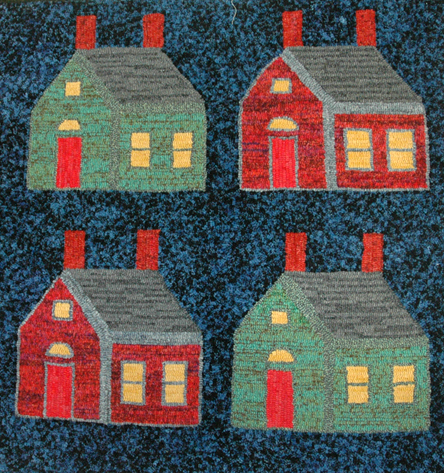 Rug hooking by Sylvia Doiron