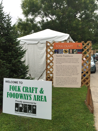 Signage in Folk Craft & Foodways area