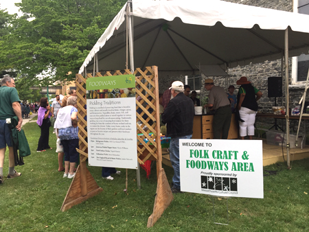 Entrance to Foodways demonstration tent