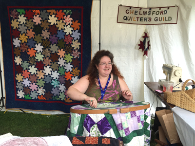 Melissa Dawson of Chelmsford Quilters' Guild