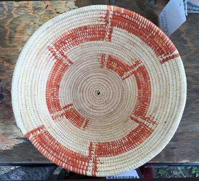Rwandan coiled basket by Patrisiya Kayobera