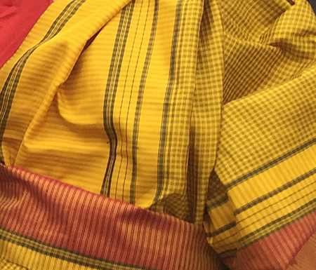 South Asian sari textile
