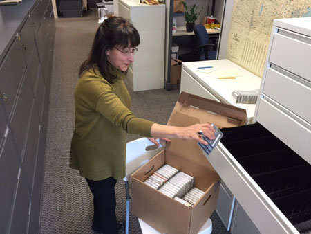 Archives_Maggie loading cassettes