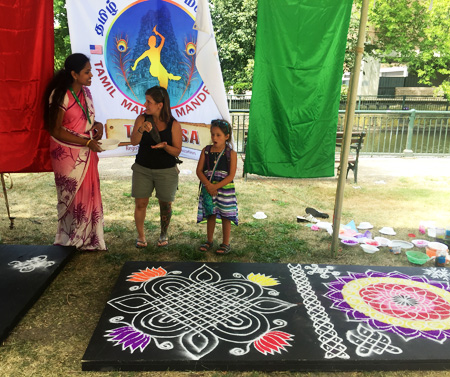 Display of kolam by Tamil Makkal Mandram, Inc.